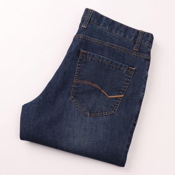 BK74男装春秋薄款牛仔裤子男士中青年直筒裤合体版潮流休闲长裤男