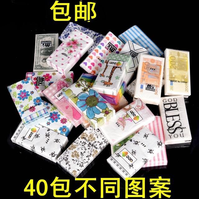 Цвет печать мультики бумажные полотенца милый тряпка для мытья посуды бумага ikea цвет еда полотенце носовой платок бумага 40 почтовая сумка