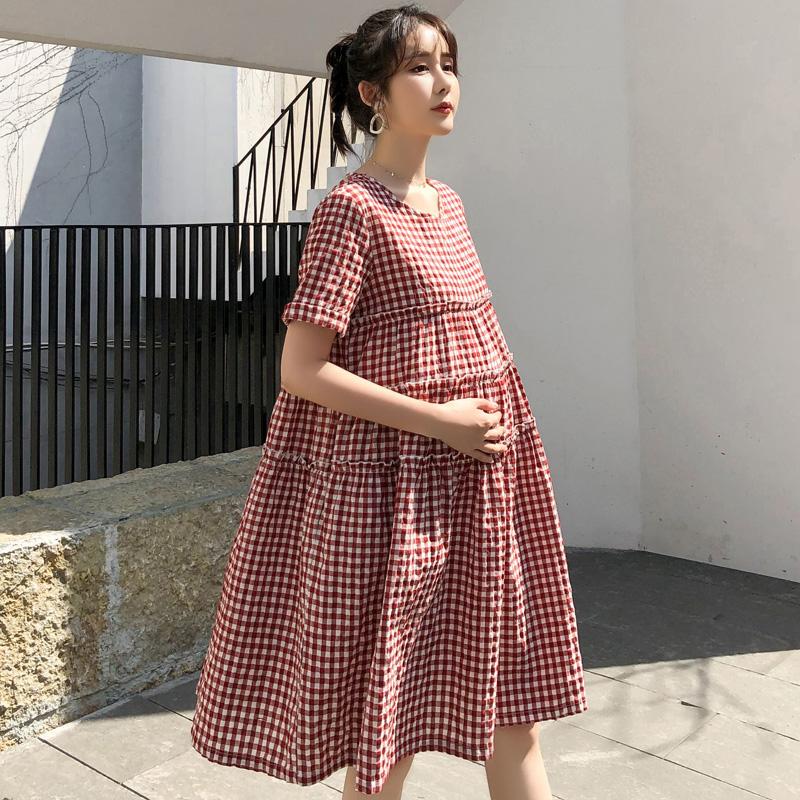 限2000张券纯棉孕妇中长款2019新款上衣连衣裙