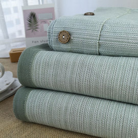 【夏天专用】加厚老粗布凉席100%纯棉老粗布三件套单件床单空调席