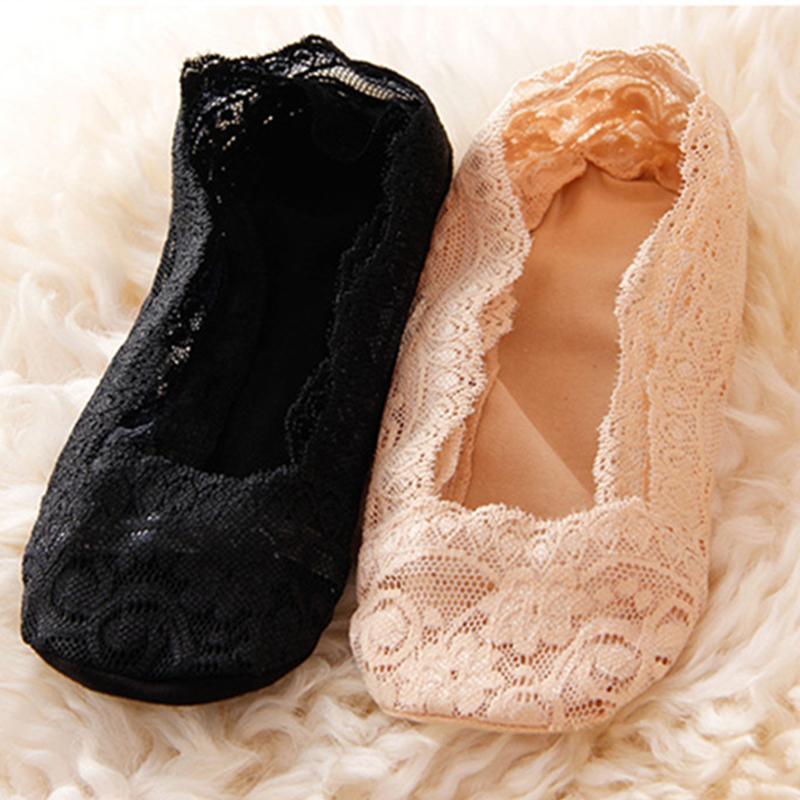 蕾丝船袜女袜夏季薄款硅胶防滑隐形浅口低帮纯棉单鞋袜子女士春季