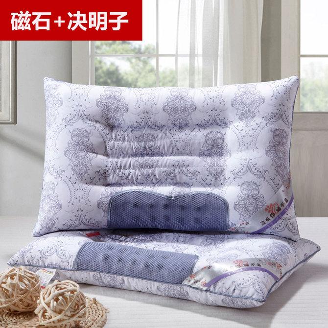 家用学生双人护颈椎助睡眠宿舍男整头 决明子枕头单人枕芯一对套装