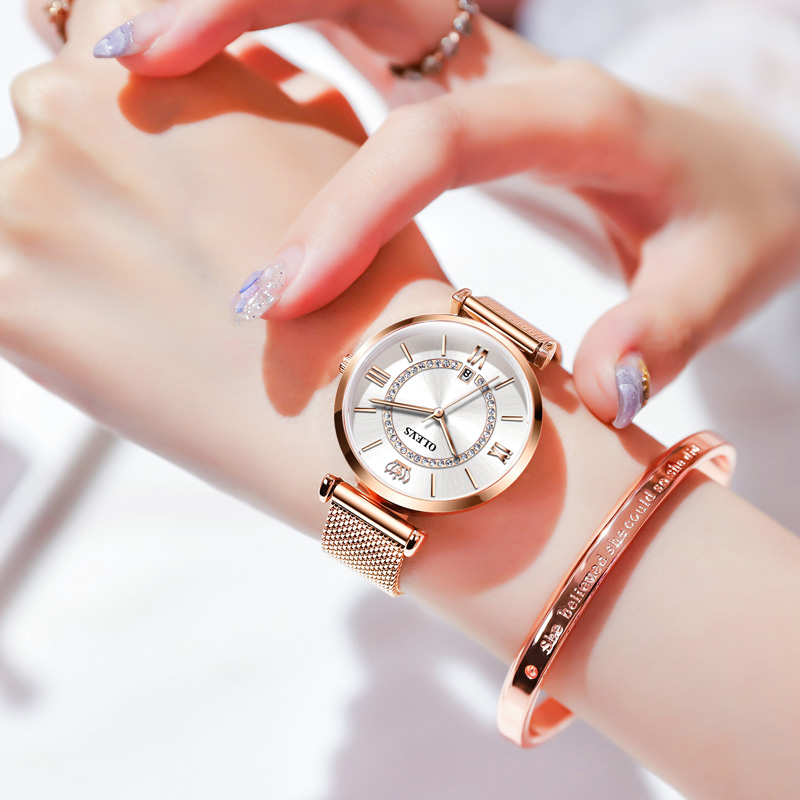 Womens watch 2020 new authentic ins wind watch womens simple temperament waterproof brand full of stars women watch trend