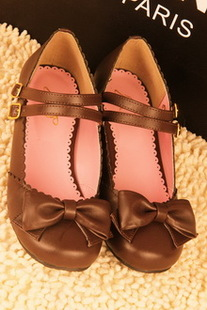 Dream Prospect Japanese wild bow low heel shoes princess shoes low heeled shoes Lolita