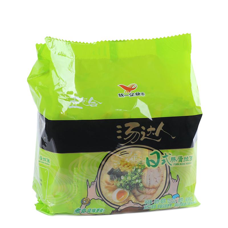 統一湯 日式豚骨拉麵130g*5袋 家庭裝速食方便麵食品 泡麵湯麵
