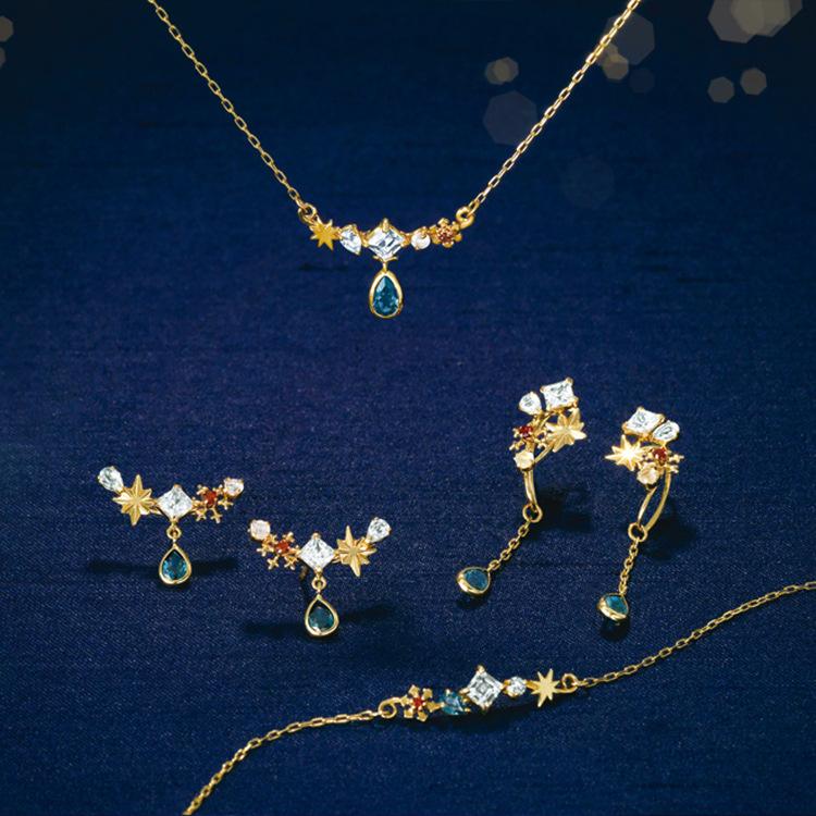 日系珠宝小众设计感仲夏夜之梦吊坠s925纯银项链女简约气质锁骨链