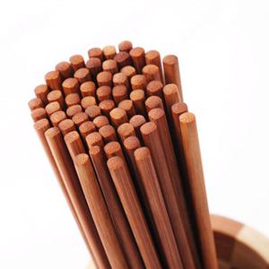 领5元券购买竹筷子家用20双装长筷子无漆蜡餐具防霉中式30双酒店环保快套装