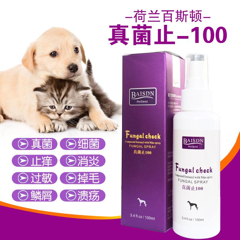 荷兰百斯顿真菌止100专业加强型真菌喷剂宠物狗猫真菌喷剂真维斯