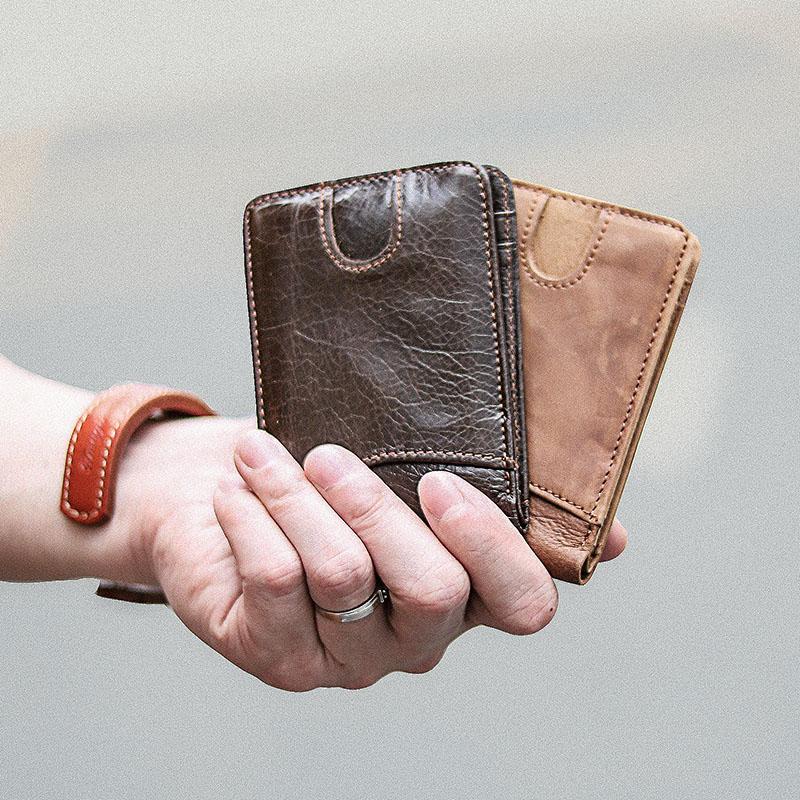 满4元可用3元优惠券阿美咔叽复古卡包真皮多功能钱包