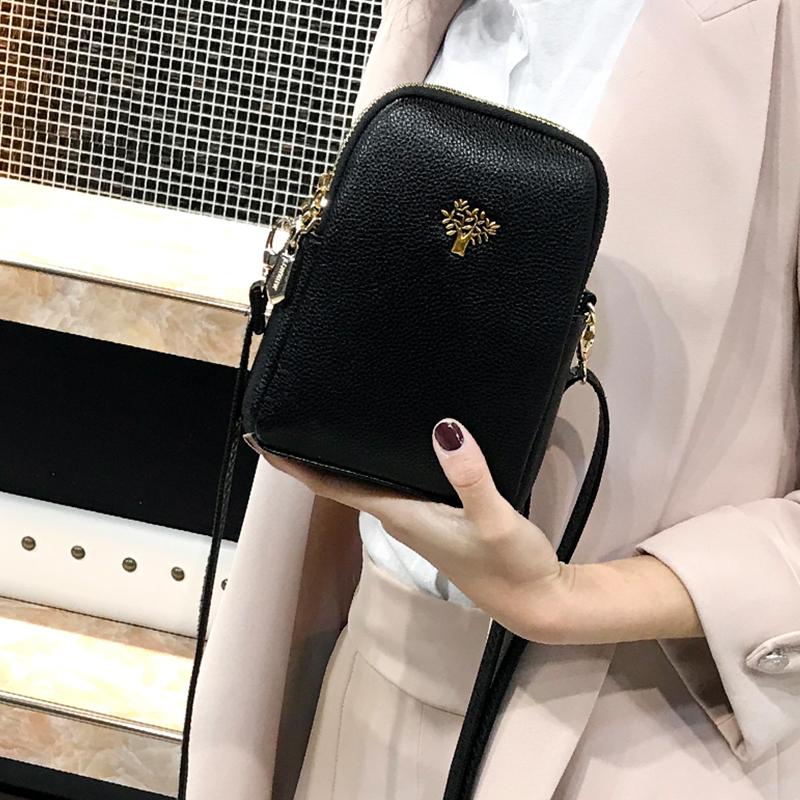 2020新款手机包女斜挎百搭单肩迷你小包包竖款零钱包放手机的小包图片