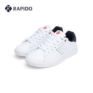 休闲鞋 情侣款 舒适低帮运动小白鞋 男女时尚 春季 雳霹道 RAPIDO
