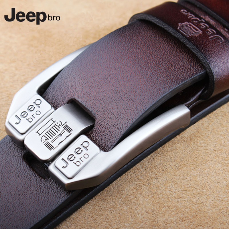 Mens leather leather leather leather belt plus large size fat wide belt jeepbro pin buckle casual young mens trousers belt