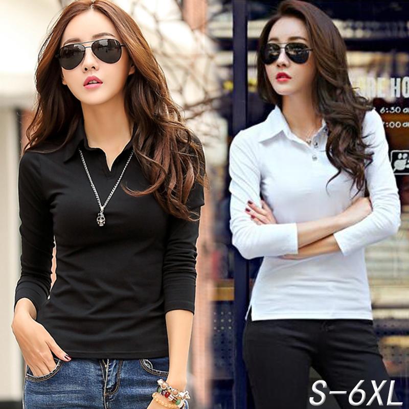 半袖Tシャツ女性は2020年春夏に新型ボタンを着用し、カジュアルなビッグサイズのスポーツ純綿長袖ブラウスを折ります。