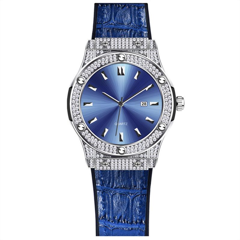 2021男士外贸热销品牌时尚橡胶表带日历石英机芯简约复刻老人手表