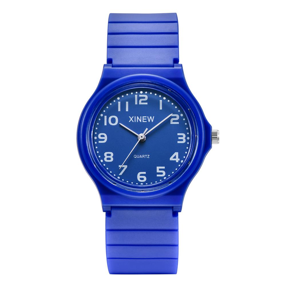 学生手表时尚品牌外贸爆款橡胶带男孩运动男表女孩简约礼品果冻表