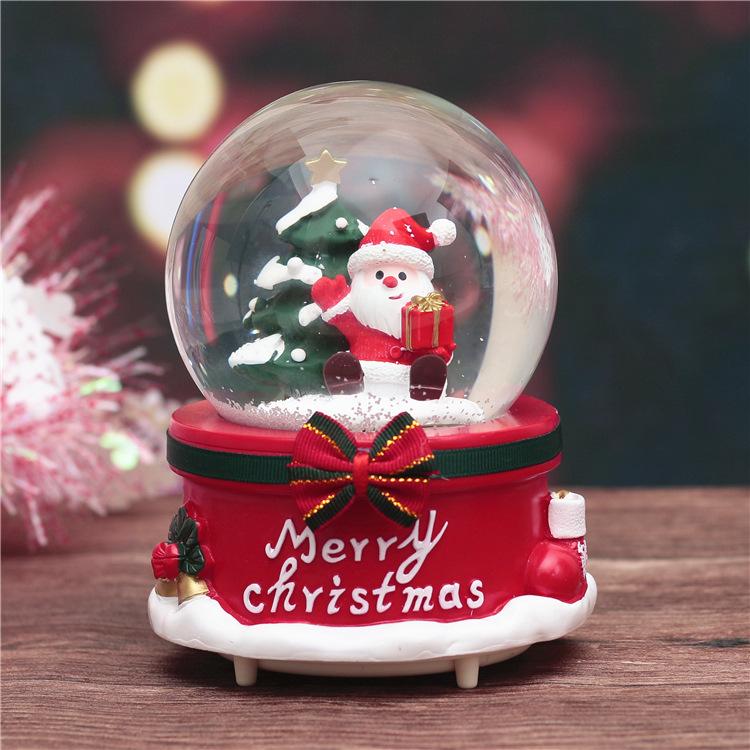 券后28.35元圣诞节礼品雪花水晶球摆件音乐盒