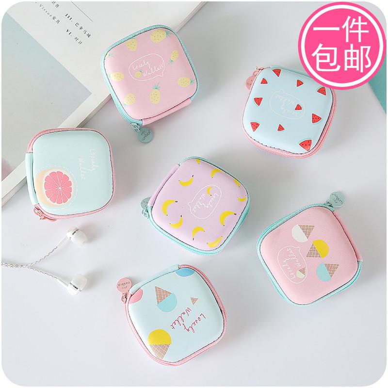耳机包迷你创意可爱韩国硬币包卡通收纳包便携耳机盒小清新零钱包