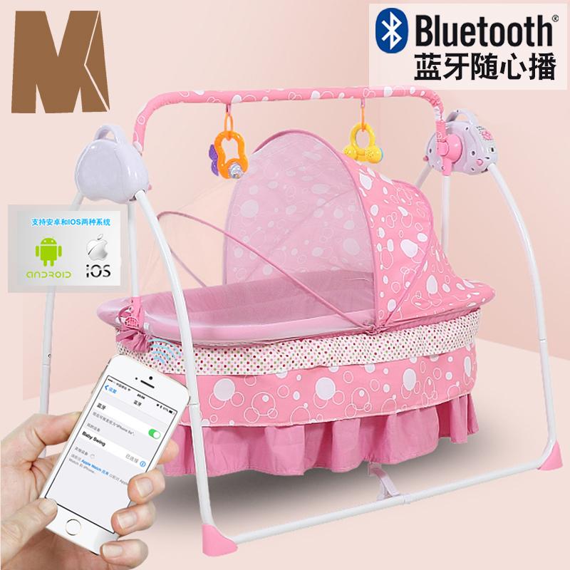 电动婴儿床电动摇篮摇摇床自动多功能新生儿bb电动摇摇椅宝宝摇床248.00元包邮
