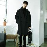 秋冬季毛呢大衣男中长款韩版英伦风加厚学生羊绒呢子风衣外套潮流