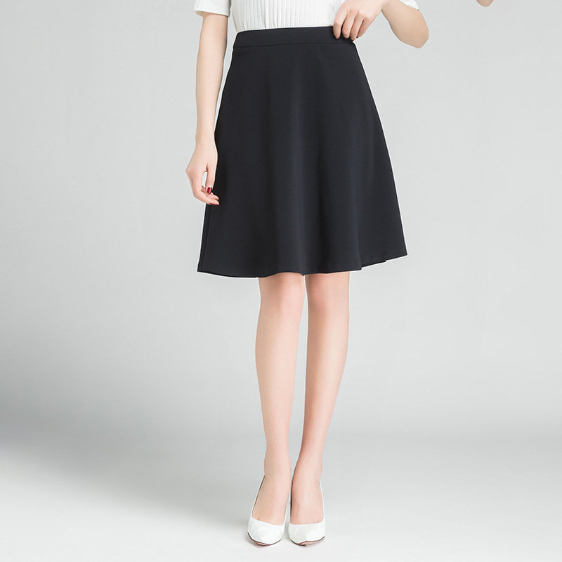 Womens dress skirt spring and summer 2020 new style commuting professional suit middle skirt childrens solid umbrella skirt summer