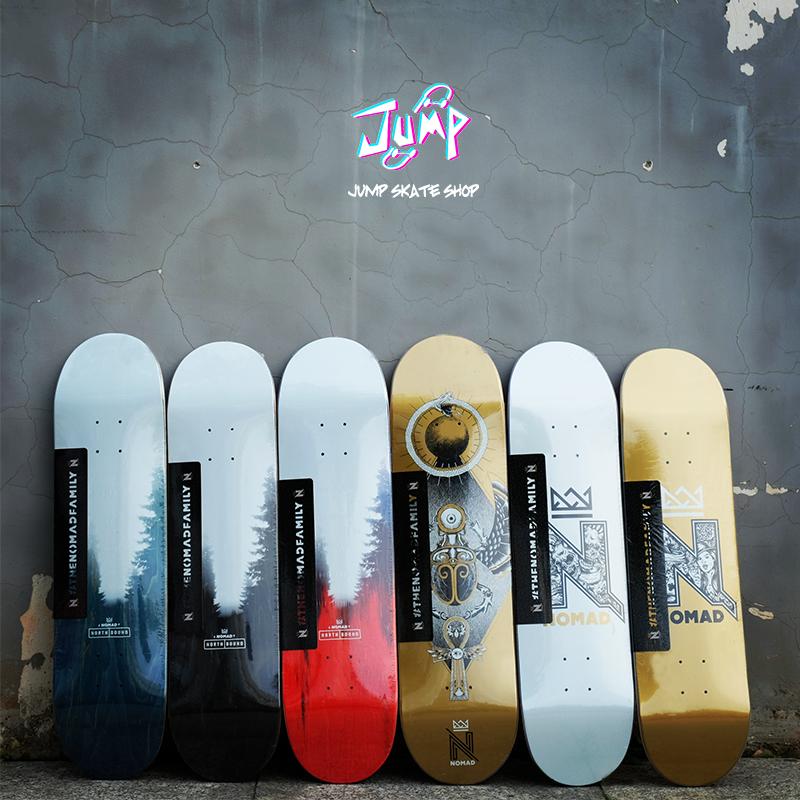 西班牙进口板面 nomad 双翘滑板板面 包邮送砂纸 jump滑板店