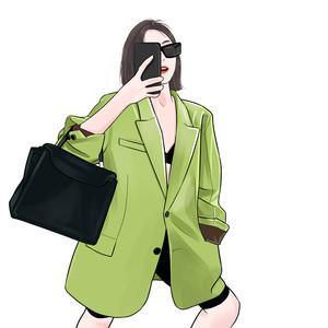 ACSENSENchic小西装外套女2020春季新款oversize廓形宽松显瘦西服