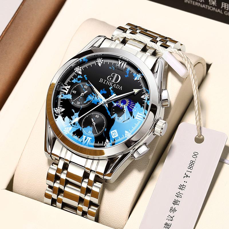 China Guangdong binkada new mens watch non mechanical watch waterproof quartz mens watch factory direct sales