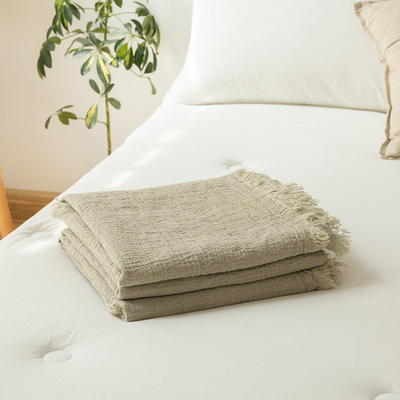 Heavy!. French 100% pure linen blanket, enzyme wash, thick breathable and cool summer blanket, air conditioning blanket, leisure blanket