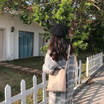 女包包斜挎2019春夏新款韩版复古单肩斜跨pu小方包子母包女学生包