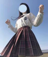 原创JK雪腥玛丽红黑格裙初定3月底补款神仙club已截定