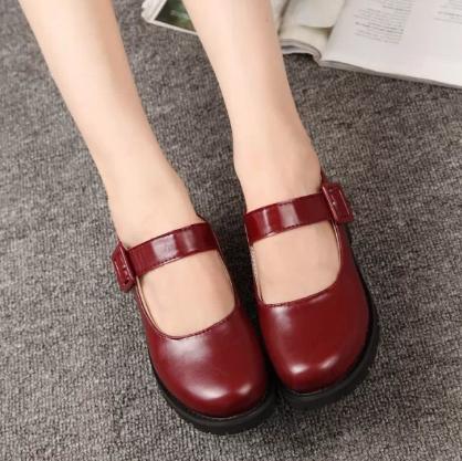 アニメK櫛名アンナの赤いロリ靴の女性ロリータコスプレ服LOLの赤ずきんのアン靴