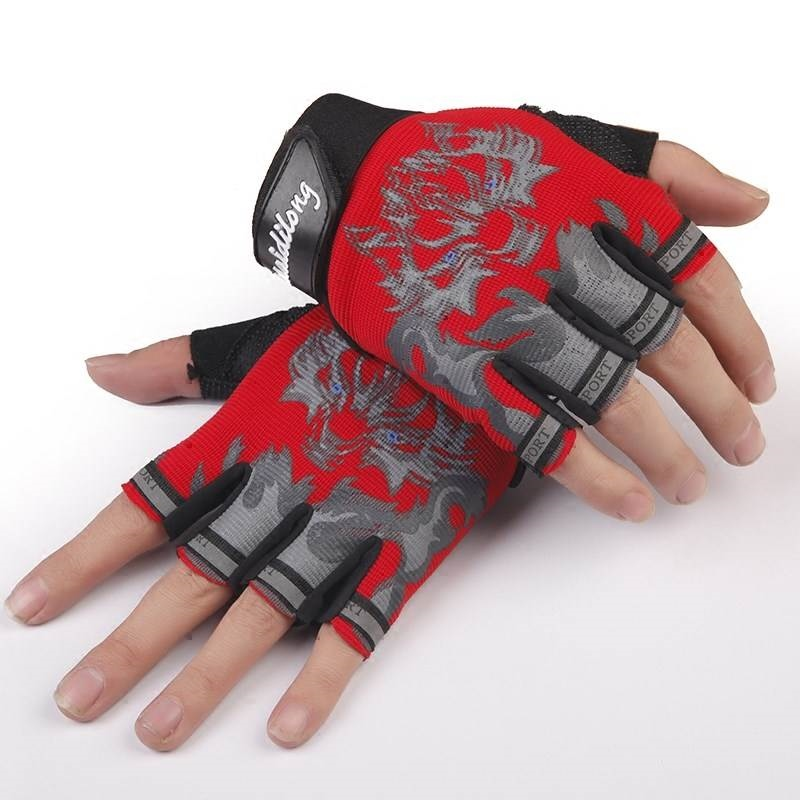 Childrens Half Finger Gloves boys outdoor breathable antiskid sunscreen sports mountaineering riding childrens half finger gloves are thin