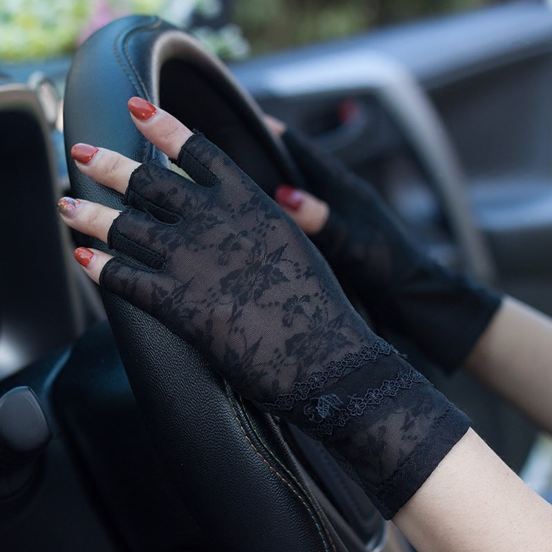 Ultra thin lace driving gloves in spring and summer