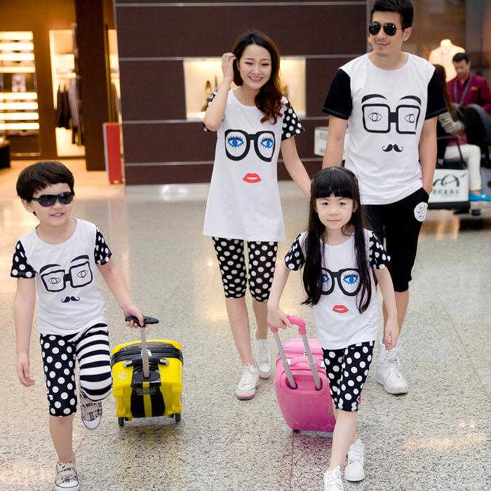 Три из удовольствия упакованные лето личности мать дочь мать и сын набор семейный пакет картридж семейного досуга корейской версии размер