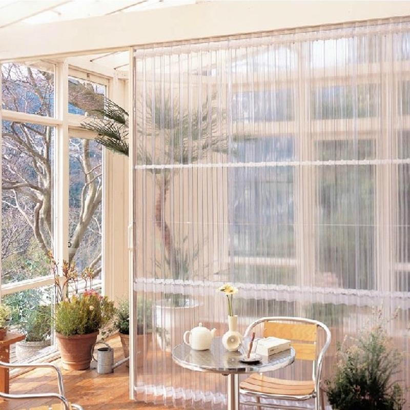 定做透明日式pvc折叠门隔断厨房门推拉门移门客厅阳台套装室内门