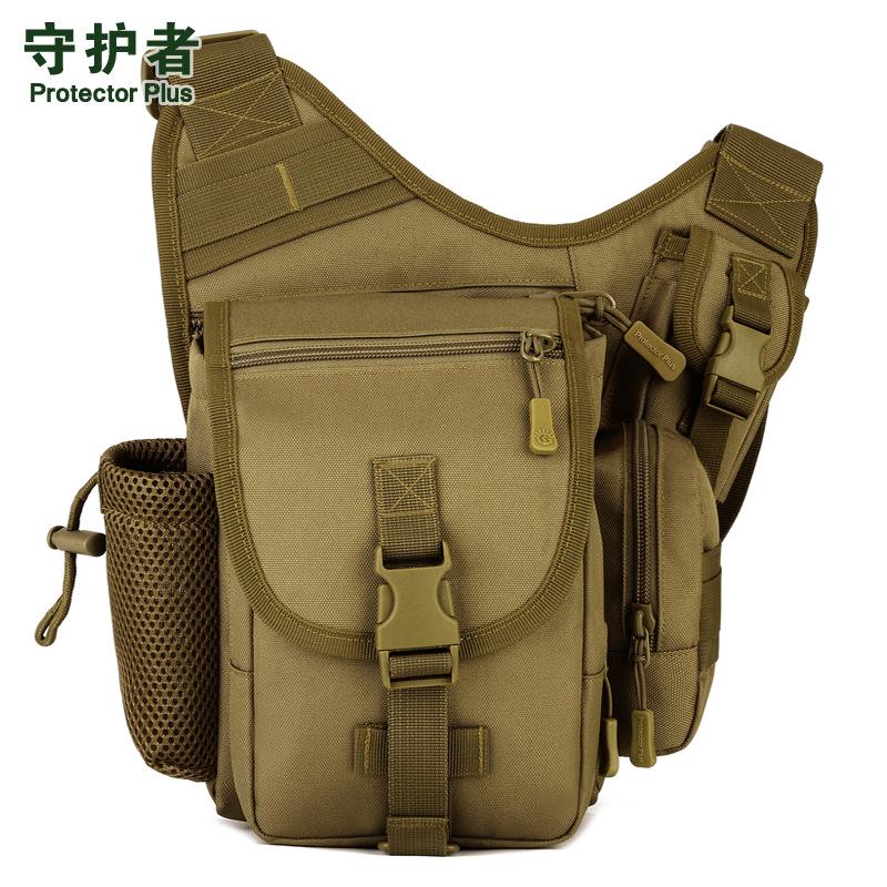 Canvas saddle bag outdoor mountaineering saddle bag waterproof diagonal cross bag riding photography bag military fan tactical bag camouflage bag