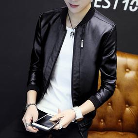 男士春秋季2020新款男装运动皮夹克