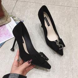 罗拉专柜尼克金湖正品故事女鞋2020早秋明星同款尖头细跟单鞋7cm