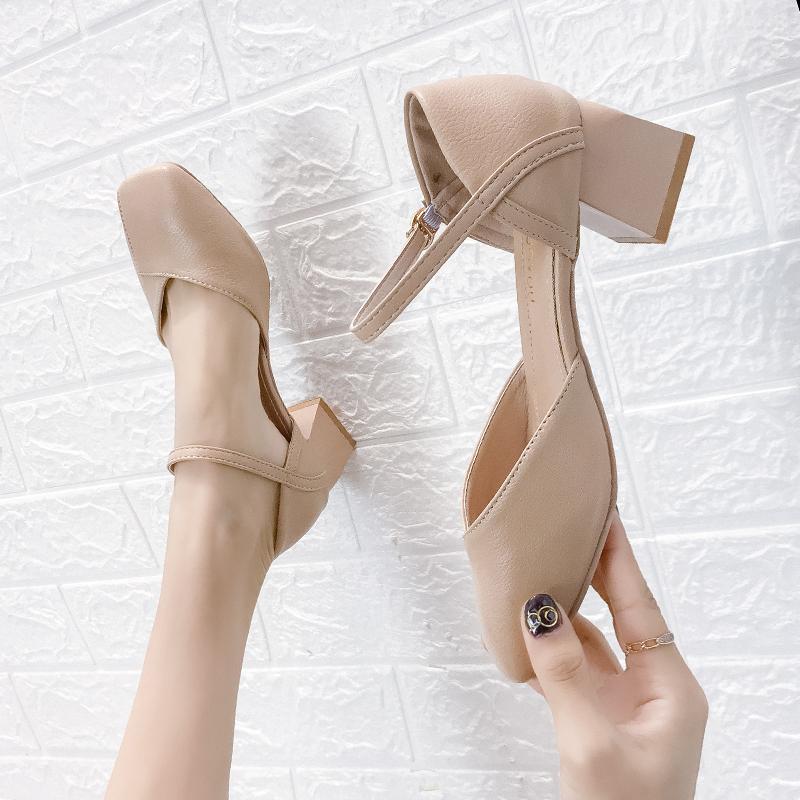 包头凉鞋2021夏季新款法式高跟鞋质量好不好