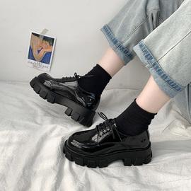 英伦风小皮鞋女日系jk2020新款厚底黑色单鞋子学生韩版百搭休闲鞋