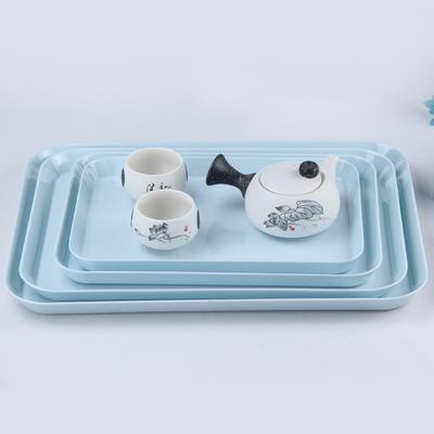 北欧茶盘托盘长方形创意塑料欧式放杯子的托盘密胺家用水果盘简约