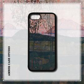 席勒日落油画适配iPhone XR美术手机壳苹果8plus/XS MAX/7/6S防摔图片