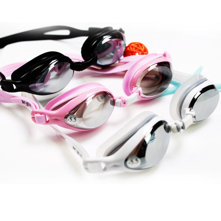 台湾 雅丽嘉正品平光泳镜 近视镜 电镀 三色150-600度券后45.00元