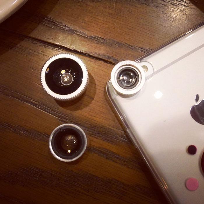 韩国创意个性手机镜头主播特效软妹摄像头广角鱼眼微距三合一自拍