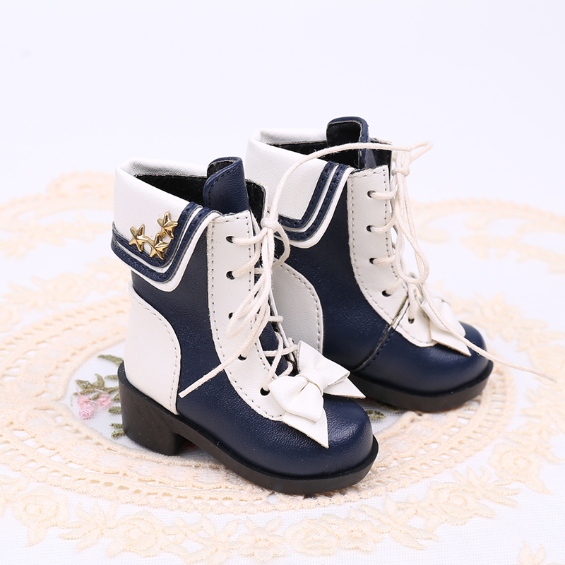 BJD baby shoes baby shoes tick hand made Navy Martin boots short boots baby shoes 3 points 4 points 6 points