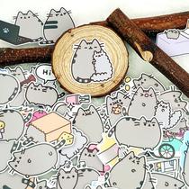 手帐贴纸自制pusheen猫手账周边diy装饰贴纸包 可爱胖吉猫01