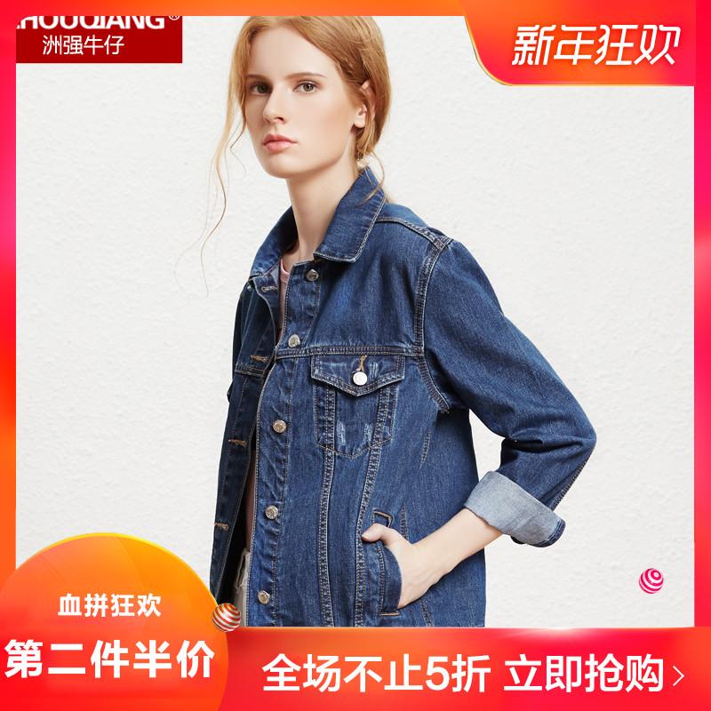 牛仔外套女宽松短外套2018春秋装新款韩版女装bf短款学生大码上衣