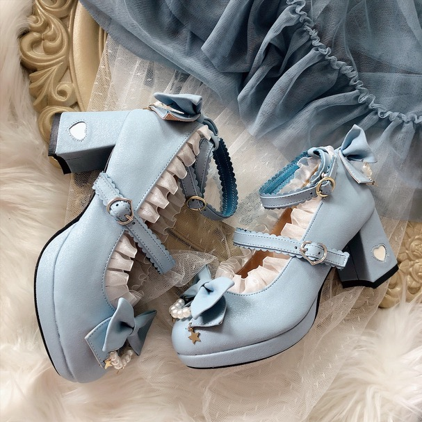 Original and authentic star shift Lolita shoes in stock (high heel 7cm)