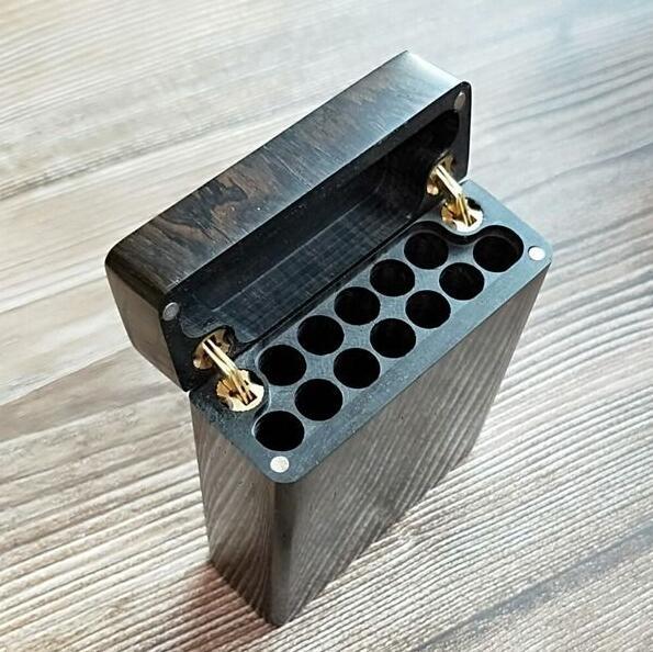 整木掏空翻盖紫光檀高档木檀木烟盒满188.00元可用20元优惠券
