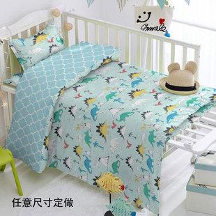 宝宝被套纯棉儿童1.2,1.5米婴儿被罩卡通全棉幼儿园床上用品定做